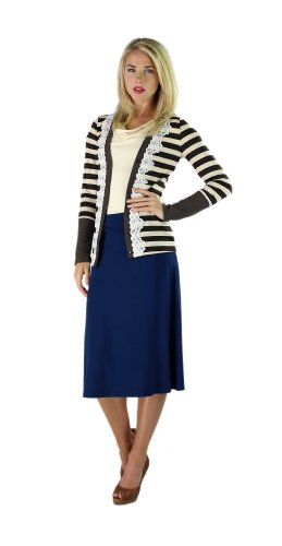 Womens Mikarose Brown Striped Cardigan Long Sleeve - Size: Xs (0-2)