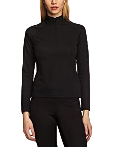 Berghaus Women's Essential Long Sleeve Zip Baselayer - Black, Size 10
