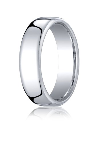 10K White Gold, 6.5mm European Comfort-Fit Ring (sz 5.5)