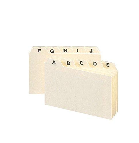 Smead Self-Tab Card Guides, Alpha, 1/5 Tab, Manila, 4 X 6, 2