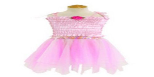 Soft Tricot Ballerina Petal Skirt Pink Pretend Ballet Play Costume Fairy-like