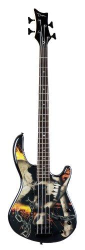 Dean Edge 10A PJ Electirc Bass Guitar with Active EQ - Skull Crusher