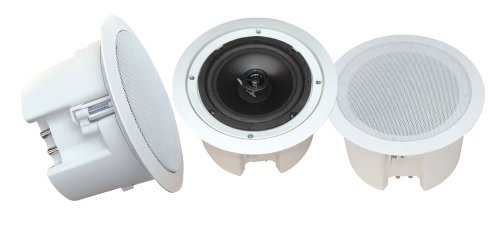 Pyle Home Pdpc82 8-Inch In-Ceiling 2-Way Flush Mount Enclosure Speaker System