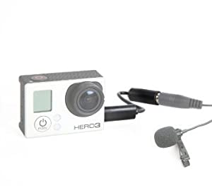 Movo GMA100 3.5mm Female Microphone Adapter Cable to fit the GoPro HERO3, HERO3+ & HERO4 Black, White & Silver Editions