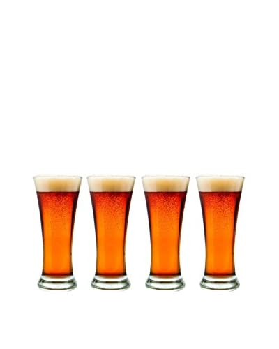 style setter Abigail Pilsner Set Of 4, Clear