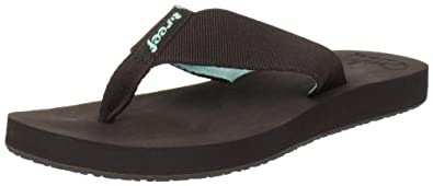Reef Women's Reef Casual Cushion Flip Flop Sandal,Brown/Aqua,6 M US