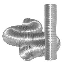 "Dundas Jafine Mfx48 Semi-Rigid Flexible Aluminum Ducting, 4"" X 8' front-142631"