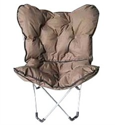 Brown Comfort Padded Butterfly Chair