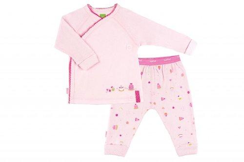 Kushies Organic Baby Girls' Cloud 9 2-Piece Set 12 Month Pink