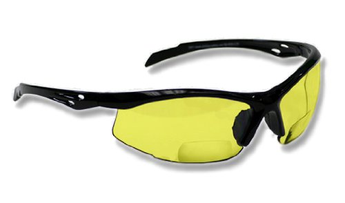 Bifocal Safety Glasses SB-9000 with Yellow Lenses, +2.50
