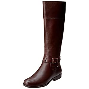 AK Anne Klein Women's Coldfeet Leather Riding Boot