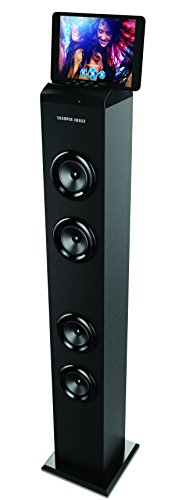 """Sharper Image Bluetooth Tower Speaker with A Docking Station & FM Radio, 40"""" Tall Stereo Sound System"""