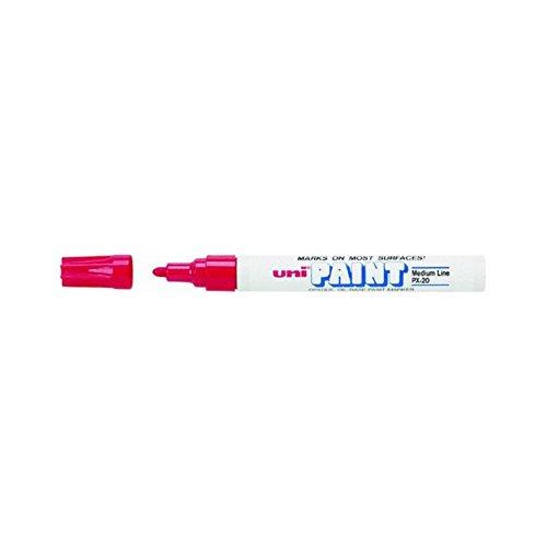 Sanford 63602 Paint Marker - Uni Ball Uni Paint Oil Based Medium Marker Medium Marker Point Type Red Ink White Barrel 1 Each