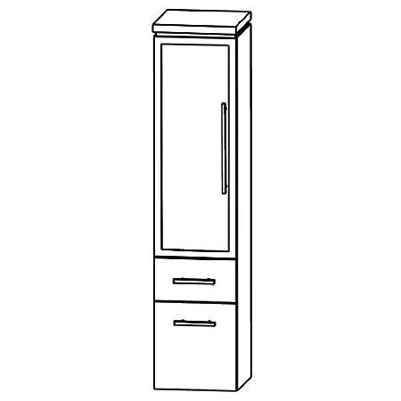 Puris Cool Line Medium Cupboard (Mna883b5ml/R) Bathroom Furniture, 30 cm
