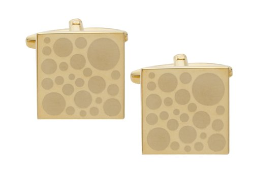 Code Red Gold Plated Cufflinks with Laser Engraved Spots