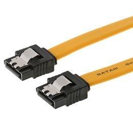 DELOCK Kabel SATA 6Gb/s 100cm gelb ge/ge Metall