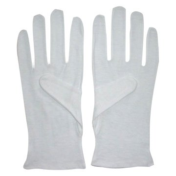 Men's 100% Soft White Cotton Gloves (Large) x 2 Pairs