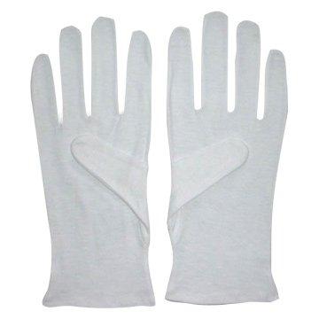 Men's 100% Soft White Cotton Gloves (Large) x 2 Pairs
