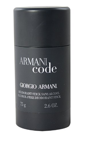 Hottest sale on     Giorgio Armani perfume this week: Armani Code by Giorgio Armani For Men. Alcohol Free Deodorant Stick 2.6-Ounces