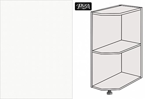 Kchenschrank-Unterschrank-Abschluregal-25cm-breit-FE-rechts-67-Premium-Weiss