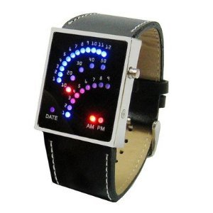 LED-Arc-Watch-Futuristic-Japanese-Style-Multicolor-LED-Watch-with-Black-Strap-Tells-the-Time-by-Colourful-Arcs-of-29-Individual-LEDs