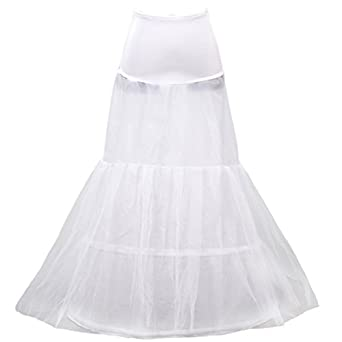 HIMRY Design en y sirène jupon jupon Crinoline jupon nuptiale de mariage, 1 cerceau 3 couches, KXB-004