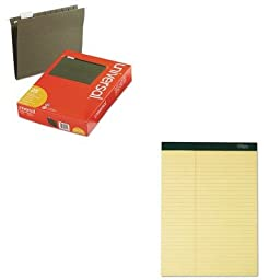 KITTOP63396UNV14115 - Value Kit - Tops Double Docket Ruled Pads (TOP63396) and Universal Hanging File Folders (UNV14115)