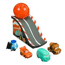 Squinkies Disney Cars 2 Series 1 Bubble Pack Includes 4 Squinkies Ramp