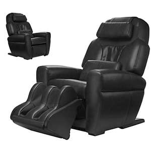 Black Leather HT 1650 Human Touch Robotic Massage Chair Recliner Refurbished