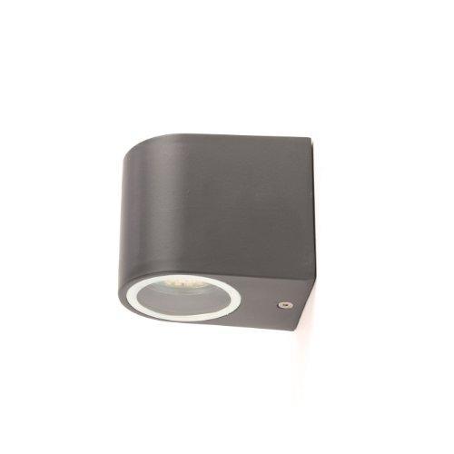 ranex bastia lampada da parete a una luce alluminio 220 240v nero. Black Bedroom Furniture Sets. Home Design Ideas