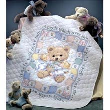 Dimensions Needlecrafts Stamped Cross Stitch, Hugs N' Kisses Quilt front-692917