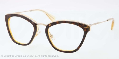 Miu Miu MIU MIU Eyeglasses MU 55MV PDK1O1 Top Havana Yellow Transparent 53MM