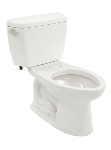 TOTO CST744SG#01 Drake 2-Piece Toilet with Elongated Bowl and Sanagloss,1.6 GPF, Glazed Cotton White picture