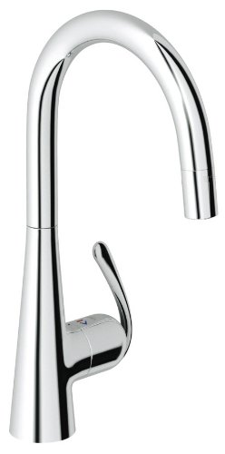 Grohe 32 226 00E Ladylux3 Pro WaterCare Main Sink Dual Spray Pull-Down Kitchen Faucet, StarLight Chrome