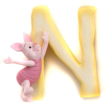 Disney Pooh Friends Magnetic Alphabet Letter, N