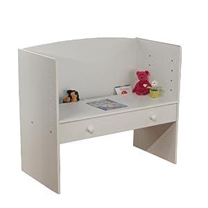 TMS Adjustable Height Desk, White