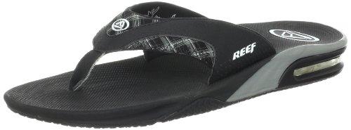 Reef Men'S Fanning Prints Sandal,Black/Plaid,10 M Us front-1014828
