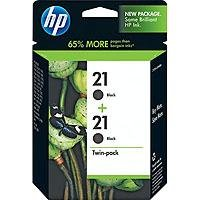 HP 21 Black Ink Cartridge in Retail Packaging,