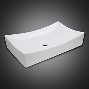 GotHobby Low Profile Ceramic Bathroom Faucet Vessel Vanity Sink Art ...