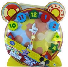 Disney Mickey Mouse Wood Clock Puzzle with Stand - 1