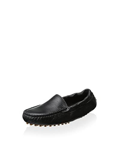 Chocolat Blu Women's Leather Moccasin  [Black]