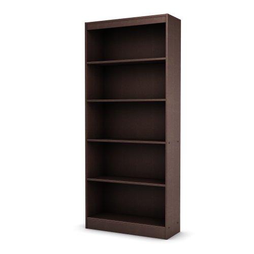 South Shore Axess Collection 5-Shelf Bookcase, Chocolate