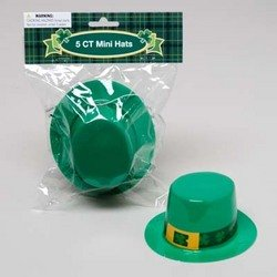 Mini Plastic St. Patricks Hats 5 Pack