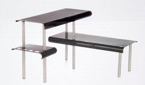 BLACK Corner Shelf Unit - Kitchen - Bathroom - Desktop - Perfect space-saving idea. by SECRET DE GOURMET (Secret De Unit compare prices)