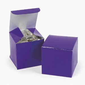 Mini Purple Gift Boxes (2 dz)
