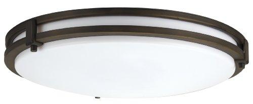 Lithonia Lighting FMSATL 16 20830 BZA M4 Antique Bronze LED Saturn Flushmount (Fluorescent Light Fixture Kitchen compare prices)