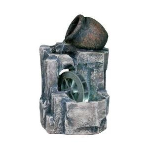 11'' H Illuminated Urn and Water Wheel Fountain (Water Fountain Wheel compare prices)