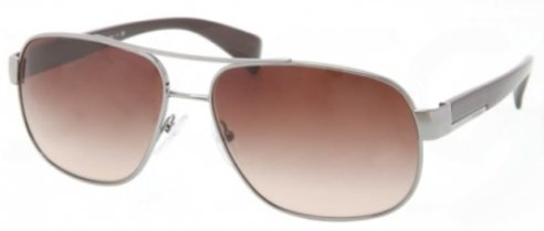 prada Prada PR52PS Sunglasses-5AV/6S1 Gunmetal (Brown Gradient Lens)-61mm