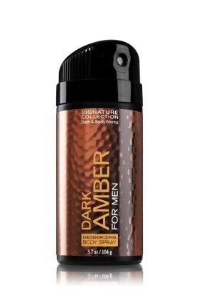 バス&ボディワークス ダークアンバー フォーメン デオドライジングスプレー DARK AMBER FOR MEN Deodorizing Body Spray