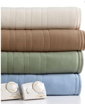 Cannon Electric Heated Blanket Queen Size Sage Color With Automatic Heating